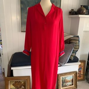Vintage Princeton Dennis Red Silk Dress